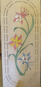 Cribbage Board Columbine_3520