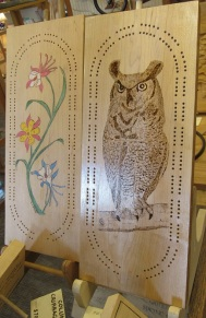 Cribbage Boards Owl and Columbine_3522